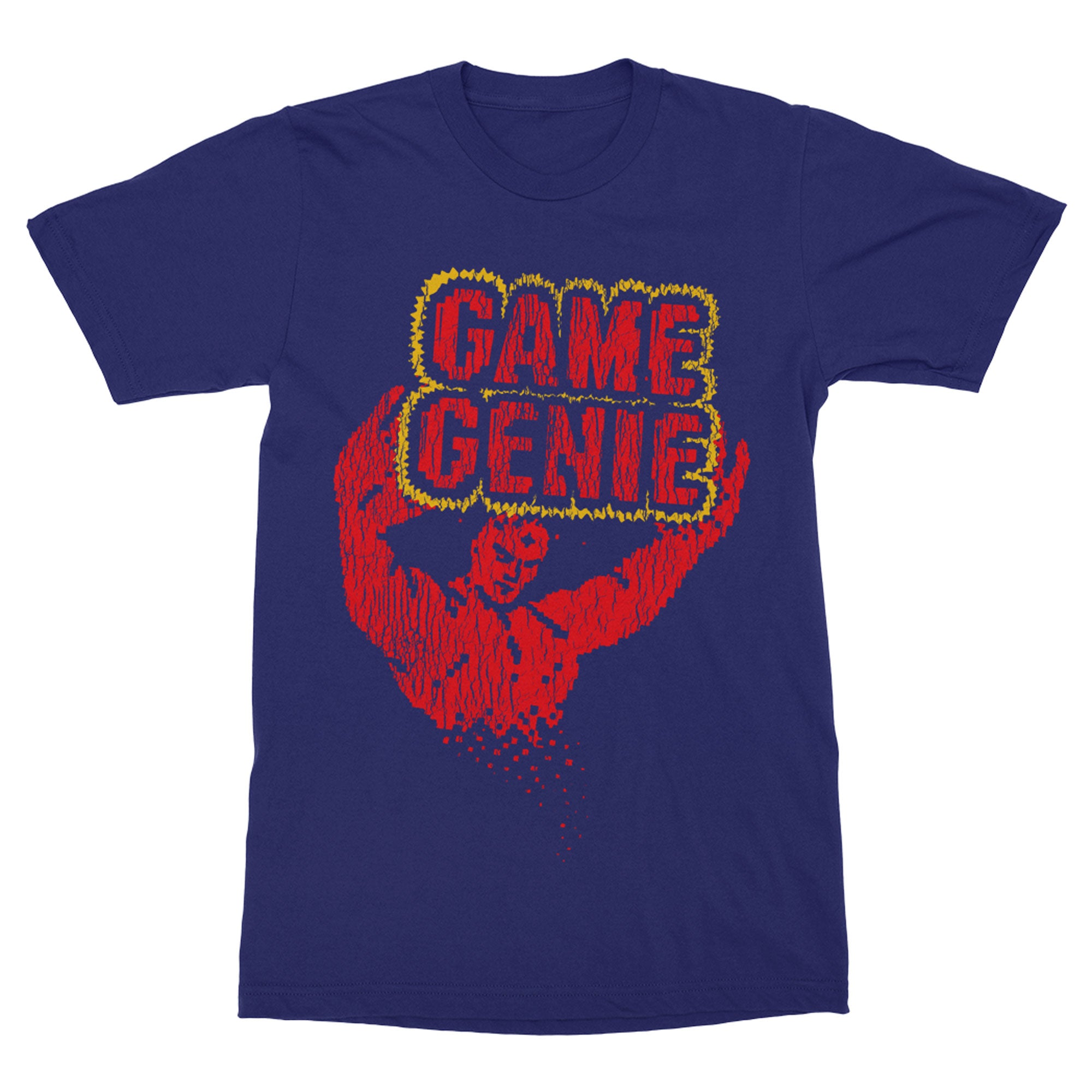 Game Genie Shirt-T-Shirts-Shirtasaurus-Premium-XXL-Heather Navy-Shirtasaurus