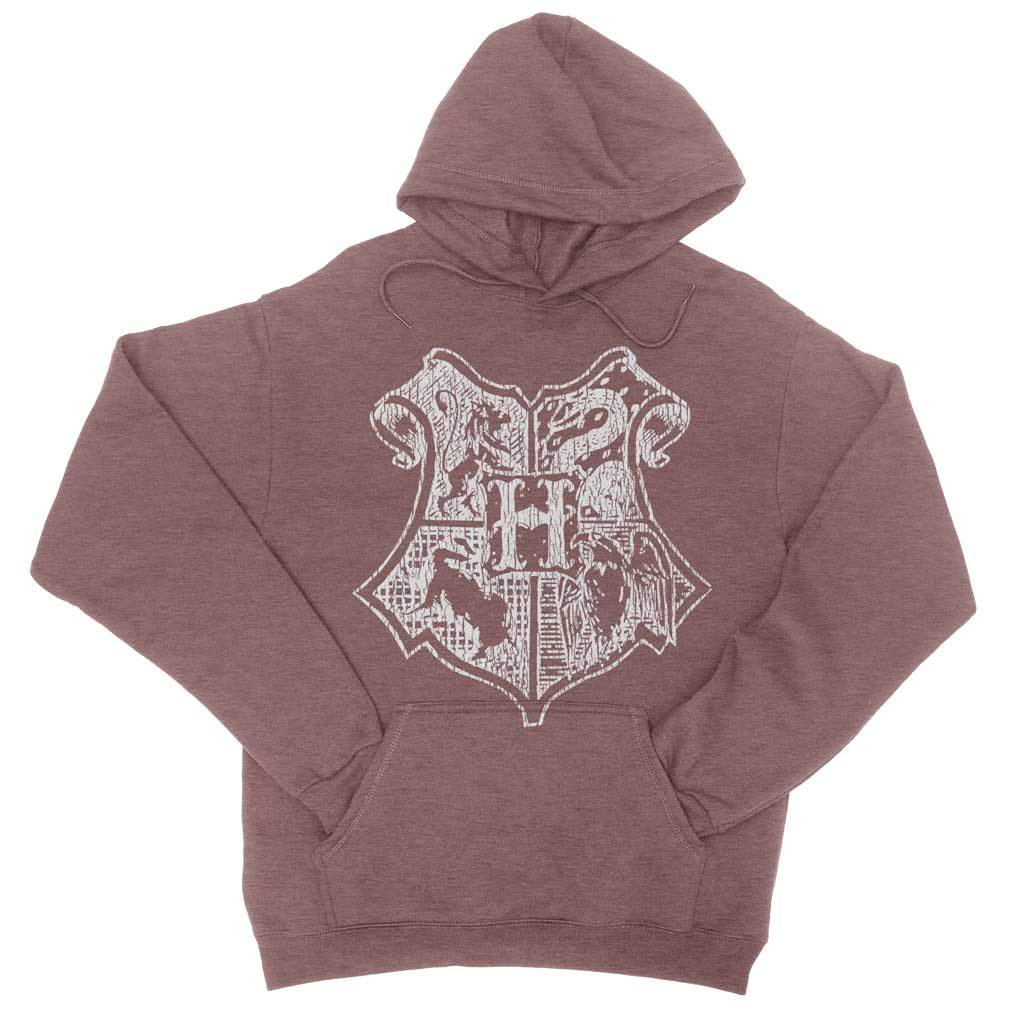 School Of Magic Vintage Pullover Hoodie-Hoodies-Shirtasaurus-S-Heather Maroon-Shirtasaurus