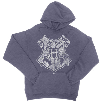School Of Magic Vintage Pullover Hoodie-Hoodies-Shirtasaurus-S-Heather Navy-Shirtasaurus
