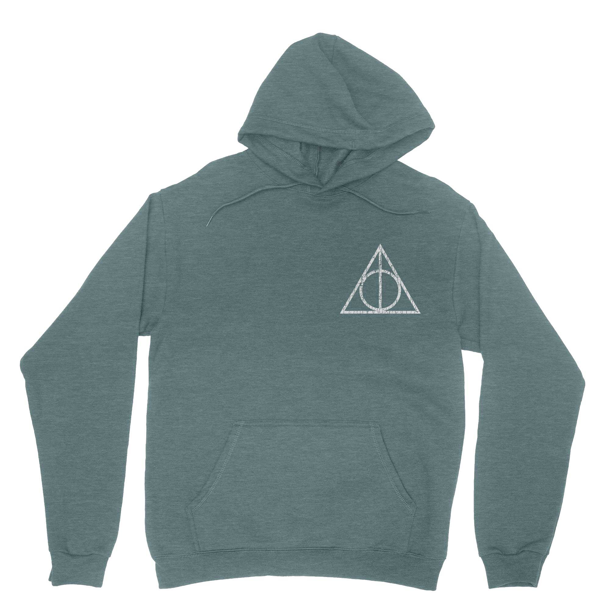 Hollowed Symbol Vintage Hoodie Sweatshirt-Hoodies-Shirtasaurus-S-Heather Green-Shirtasaurus