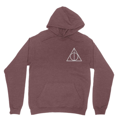 Hollowed Symbol Vintage Hoodie Sweatshirt-Hoodies-Shirtasaurus-S-Heather Maroon-Shirtasaurus