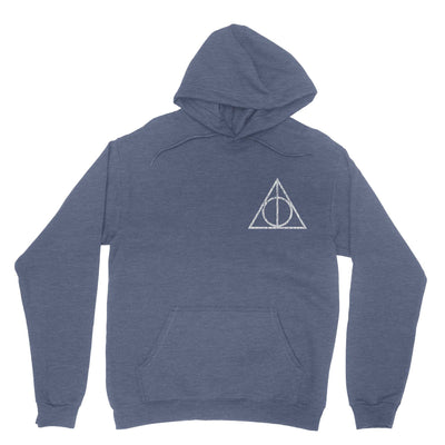 Hollowed Symbol Vintage Hoodie Sweatshirt-Hoodies-Shirtasaurus-S-Heather Navy-Shirtasaurus