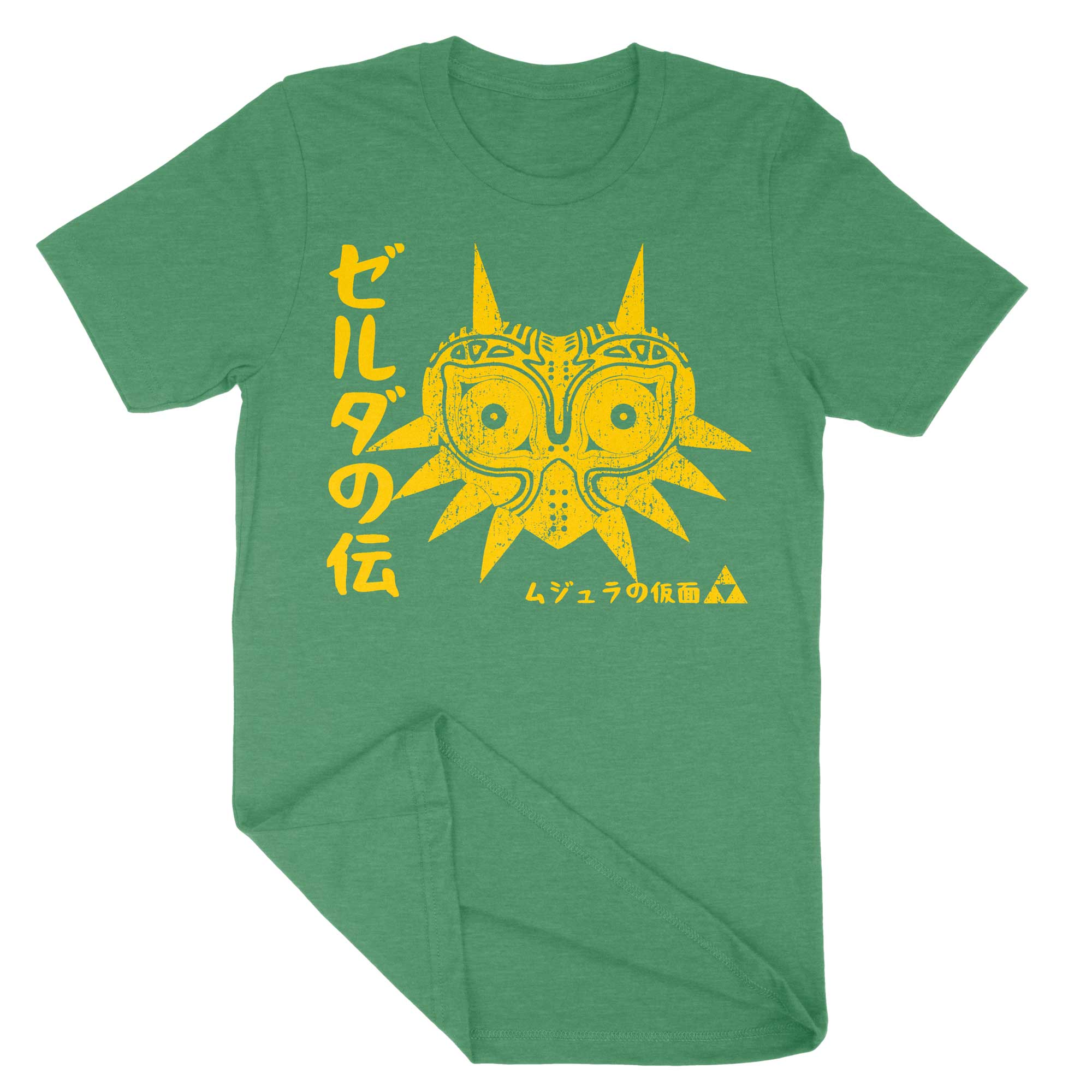 Majoras Mask Japanese Vintage Shirt-T-Shirts-Shirtasaurus-Premium-XS-Heather Kelly Green-Shirtasaurus