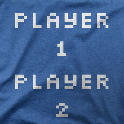 Pixel Player 1 and 2 Shirts-T-Shirts-Shirtasaurus-Shirtasaurus