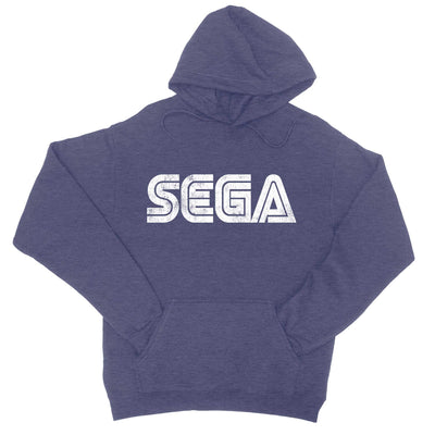 Sega Vintage Logo Hoodie Sweatshirt-Hoodies-Shirtasaurus-S-Heather Navy-Shirtasaurus