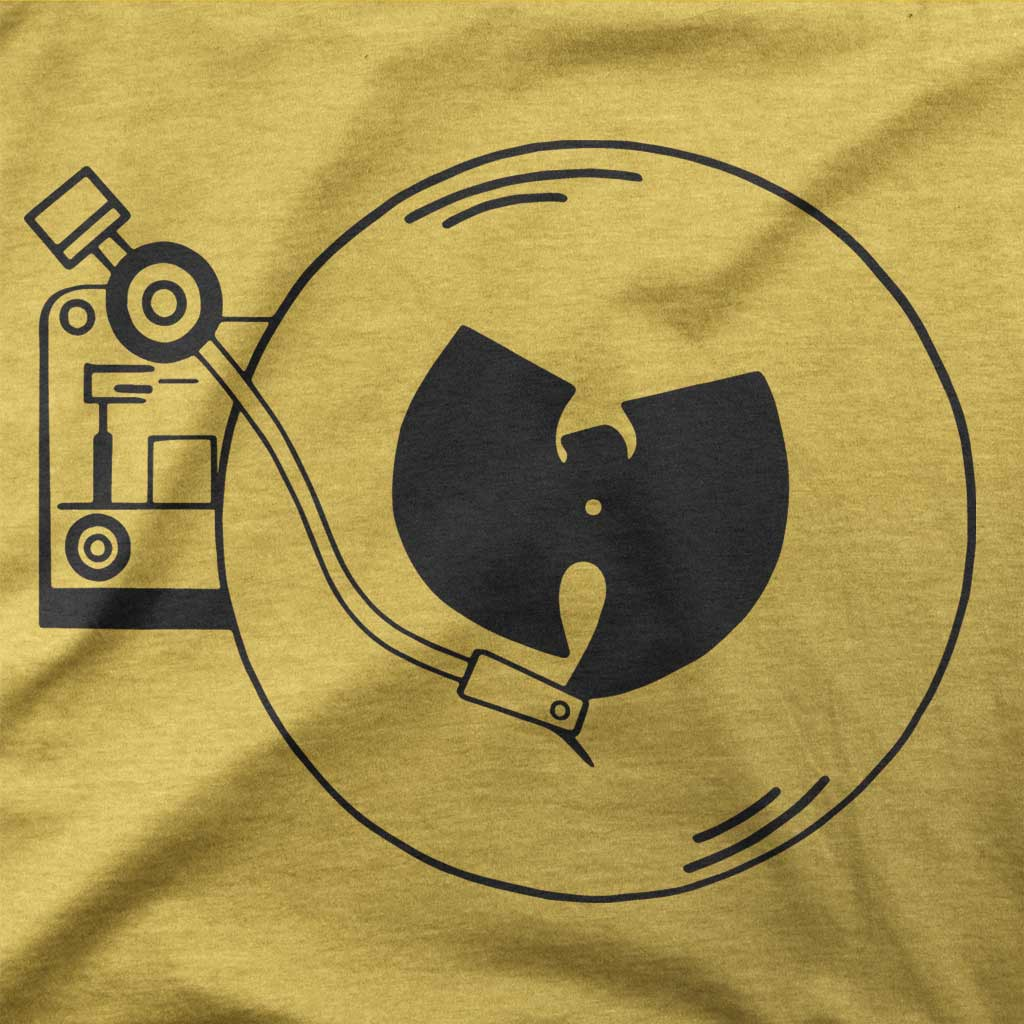 Wu Turnables and A Microphone-T-Shirts-Shirtasaurus-Basic-S-Gold-Shirtasaurus