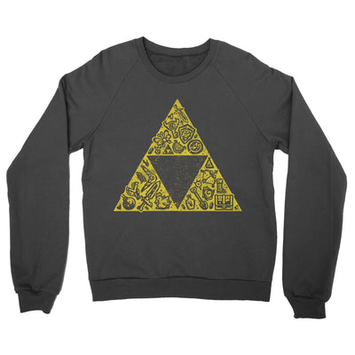 Hyrule Collector Crewneck Sweatshirt-Crew Neck Sweatshirts-Shirtasaurus-S-Black-Shirtasaurus