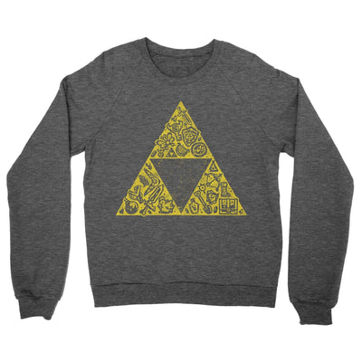 Hyrule Collector Crewneck Sweatshirt-Crew Neck Sweatshirts-Shirtasaurus-S-Heather Black-Shirtasaurus