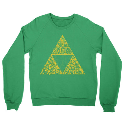 Hyrule Collector Crewneck Sweatshirt-Crew Neck Sweatshirts-Shirtasaurus-S-Green-Shirtasaurus