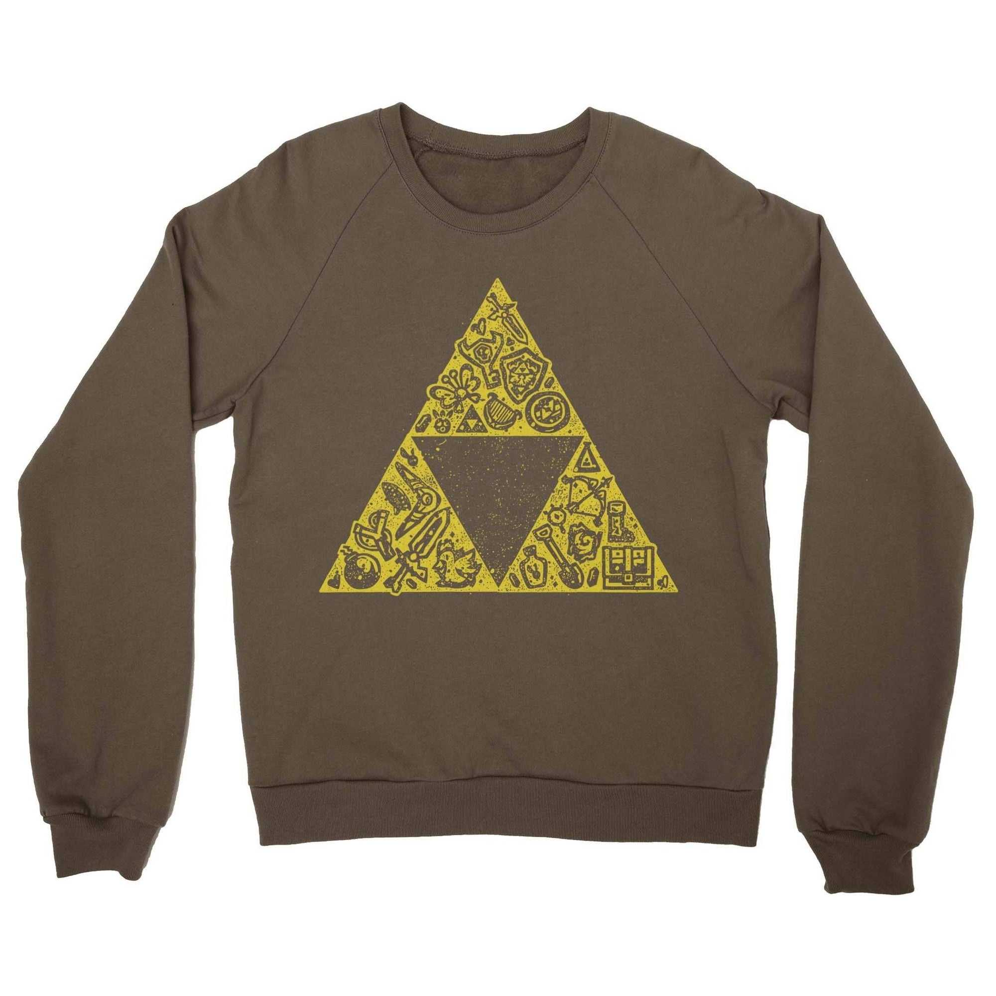 Hyrule Collector Crewneck Sweatshirt-Crew Neck Sweatshirts-Shirtasaurus-S-Brown-Shirtasaurus