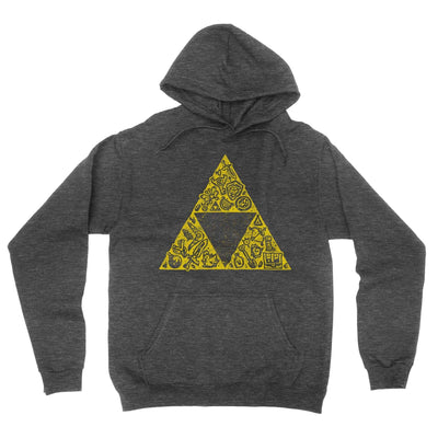 Hyrule Collector Hoodie-Hoodies-Shirtasaurus-S-Heather Black-Shirtasaurus