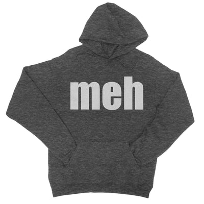 Meh Hoodie-Hoodies-Shirtasaurus-S-Heather Black-Shirtasaurus