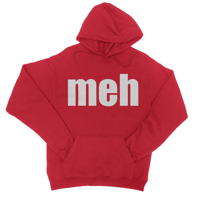Meh Hoodie-Hoodies-Shirtasaurus-S-Red-Shirtasaurus