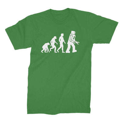 Robot Evolution Shirt-T-Shirts-Shirtasaurus-Basic-S-Green-Shirtasaurus