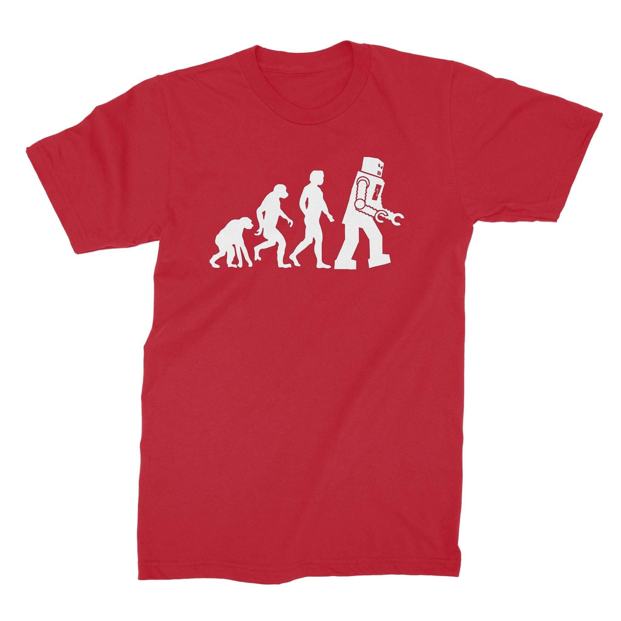 Robot Evolution Shirt-T-Shirts-Shirtasaurus-Basic-S-Red-Shirtasaurus