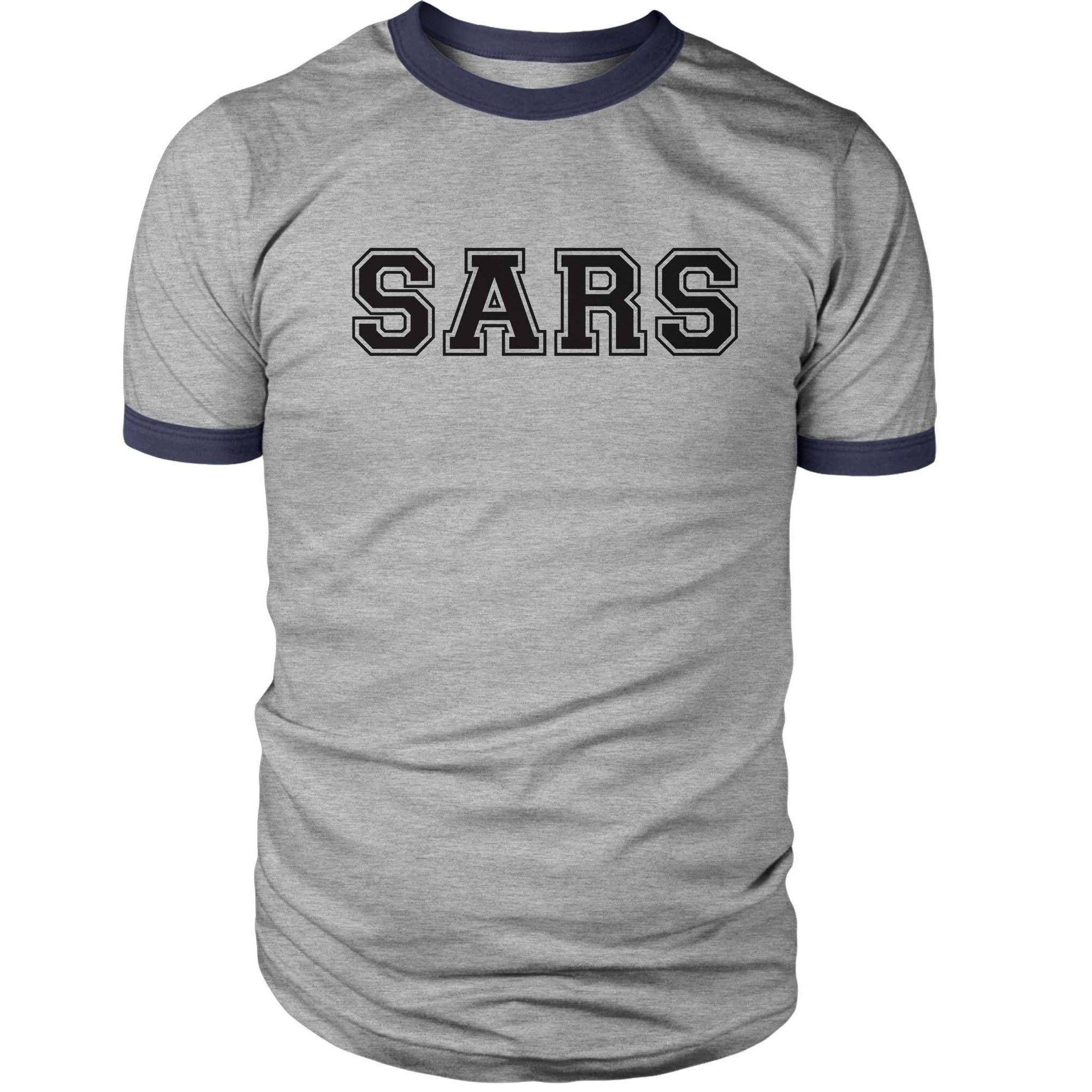 Scott Pilgrim SARS Ringer Shirt-Ringers-Shirtasaurus-S-Heather Gray-Shirtasaurus