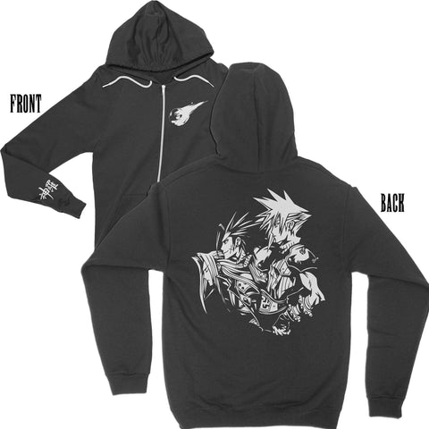 Sons of Shinra Premium Zip Hoodie-Zip-Hoodies-Shirtasaurus-XS-Black-Shirtasaurus