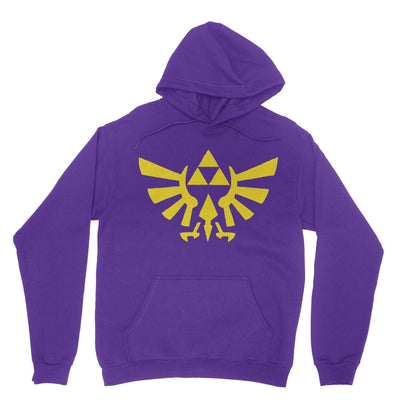 Triforce Hoodie-Hoodies-Shirtasaurus-Purple-S-Shirtasaurus