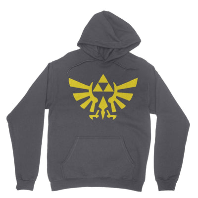 Triforce Hoodie-Hoodies-Shirtasaurus-Gray-S-Shirtasaurus