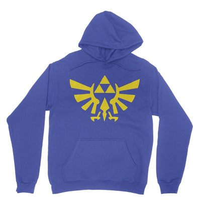 Triforce Hoodie-Hoodies-Shirtasaurus-Royal-S-Shirtasaurus