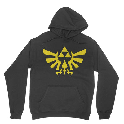 Triforce Hoodie-Hoodies-Shirtasaurus-Black-S-Shirtasaurus