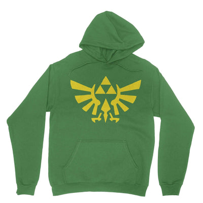Triforce Hoodie-Hoodies-Shirtasaurus-Shamrock-S-Shirtasaurus