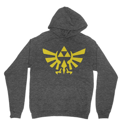 Triforce Hoodie-Hoodies-Shirtasaurus-Heather Black-S-Shirtasaurus