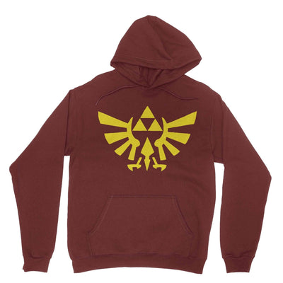 Triforce Hoodie-Hoodies-Shirtasaurus-Maroon-S-Shirtasaurus