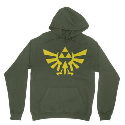 Triforce Hoodie-Hoodies-Shirtasaurus-Military Green-S-Shirtasaurus