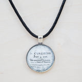 Declaration of Independence Round Necklace