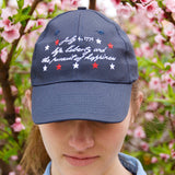 July Fourth Embroidered Baseball Cap