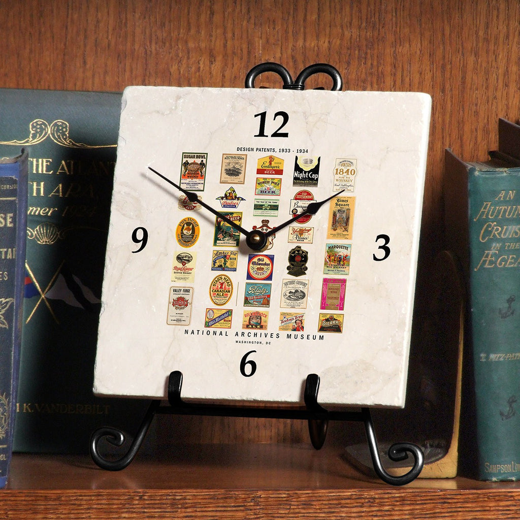 Marble Patents Clock