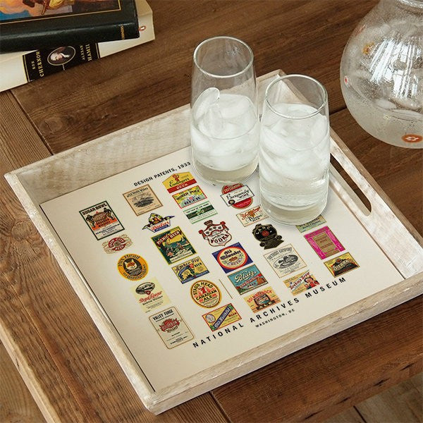 Wooden Patents Tray
