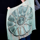 Flagpole Rosette Detail Silk Scarf