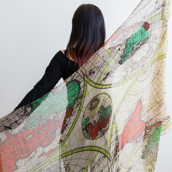 World Print Scarf