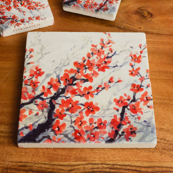 Cherry Blossom Tile Coaster
