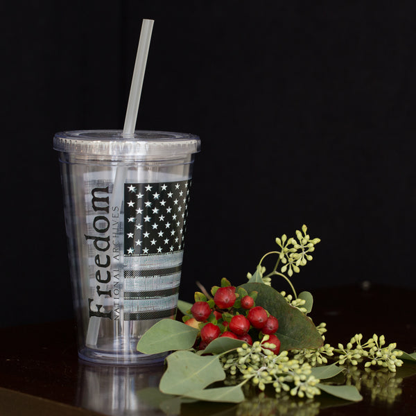 Interwoven Glory Tumbler with Straw
