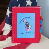 Teddy in Hat Red Notebook Set