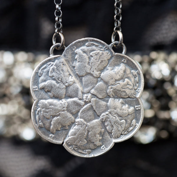 Mercury Dimes Pinwheel Necklace