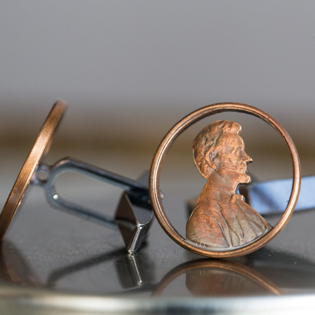 Abe Pennies Cuff Links