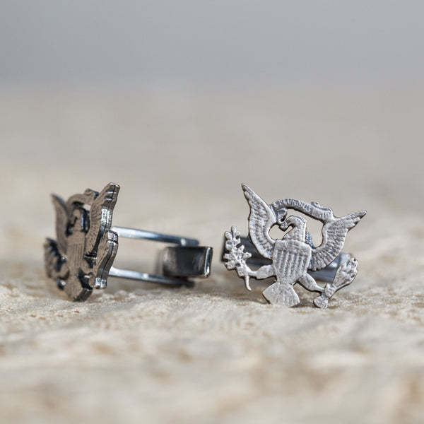 Coat of Arms Silver Cuff Links