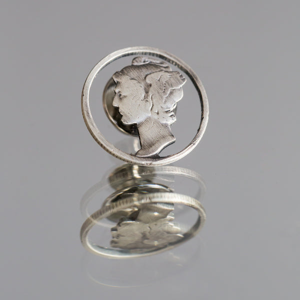 Circled Mercury Dime Lapel Pin