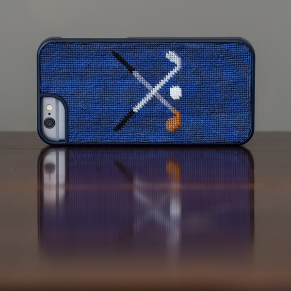 Crossed Clubs iPhone 6 Navy Phone Case