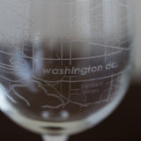 Washington, D.C. Wine Glass