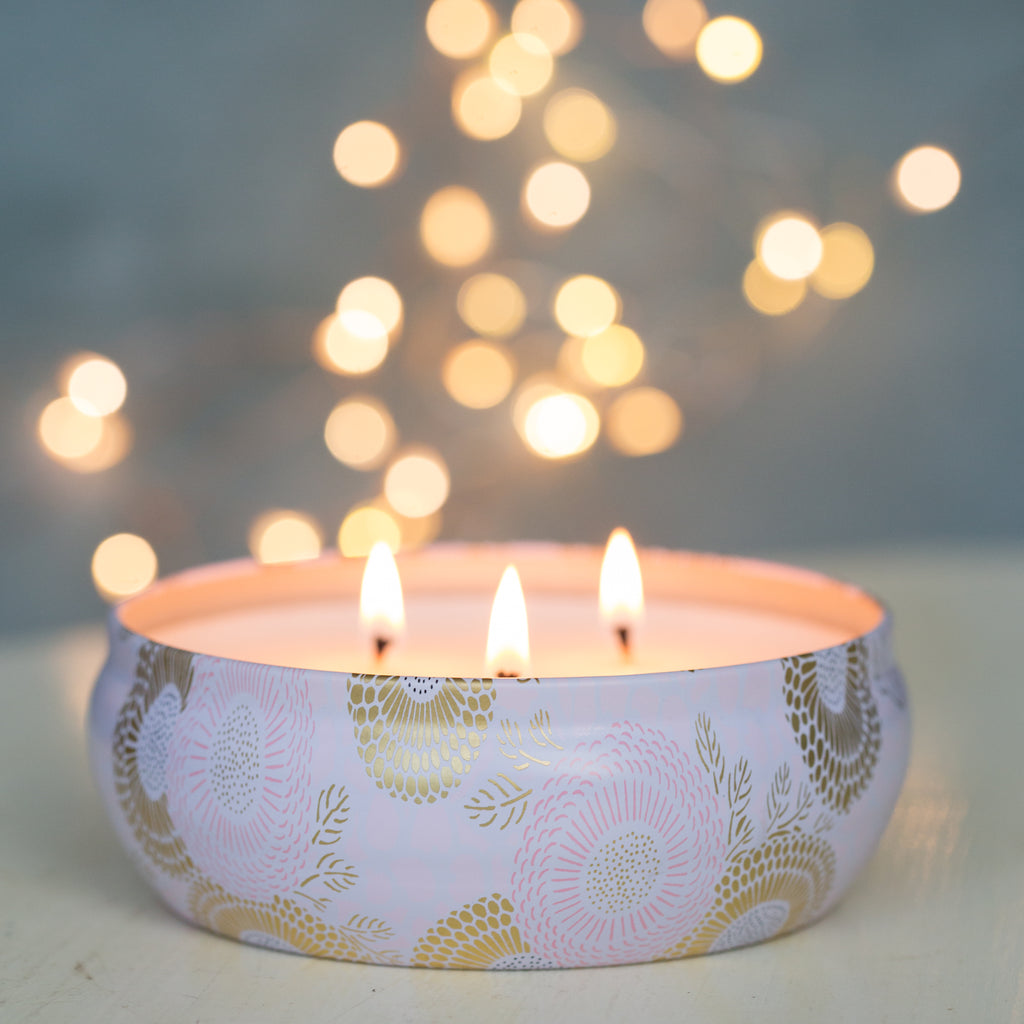 Candle 12 Oz. Triple Wick Panjore Lychee