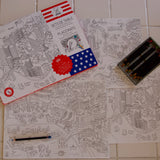 Coloring Placemats USA