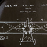 Vintage Airplane Coco 18-inch Tray