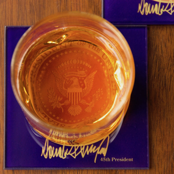 45th President Glass Coasters (Set of 2)