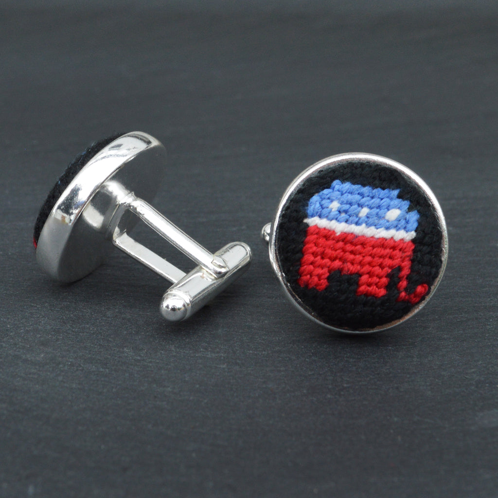 Republican Silver Plated Cuff Links