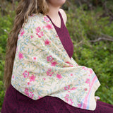 Rambling Roses and Cherries Rectangle Scarf